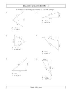Calculating the Perimeter and Height of Triangles (I