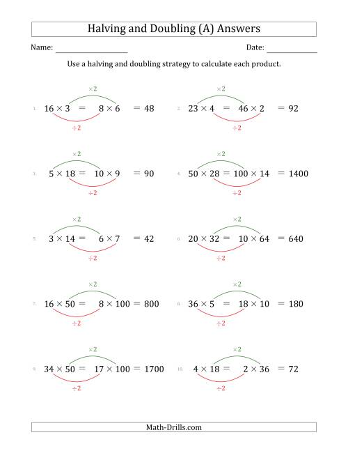 hight resolution of Halving and Doubling Strategy with Easier Questions (A)