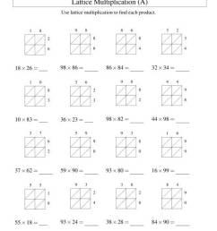 2-Digit by 2-Digit Lattice Multiplication (A) [ 1165 x 900 Pixel ]