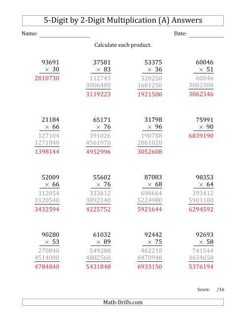medium resolution of Multiplying 5-Digit by 2-Digit Numbers (A)