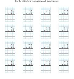 2-Digit by 2-Digit Multiplication with Grid Support (A) [ 1165 x 900 Pixel ]