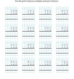 3-Digit by 2-Digit Multiplication with Grid Support (A) [ 1165 x 900 Pixel ]