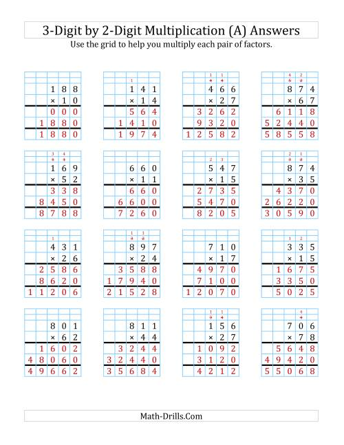small resolution of 3-Digit by 2-Digit Multiplication with Grid Support (A)
