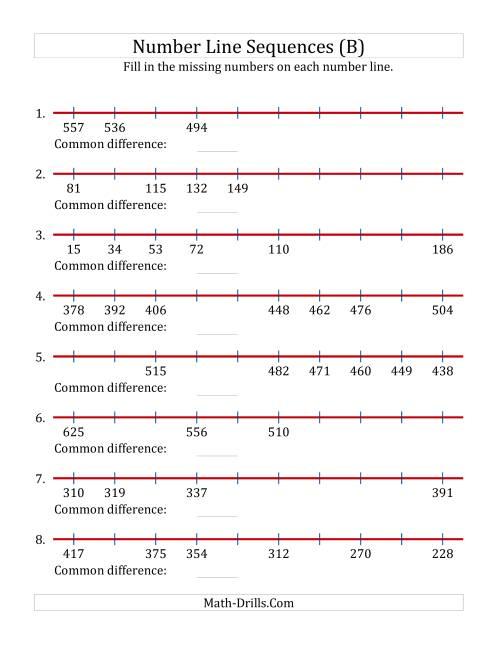 hight resolution of missing number worksheet: NEW 330 MISSING NUMBERS ON NUMBER LINE WORKSHEET