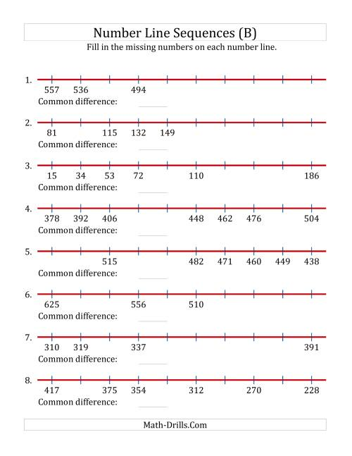 small resolution of missing number worksheet: NEW 330 MISSING NUMBERS ON NUMBER LINE WORKSHEET