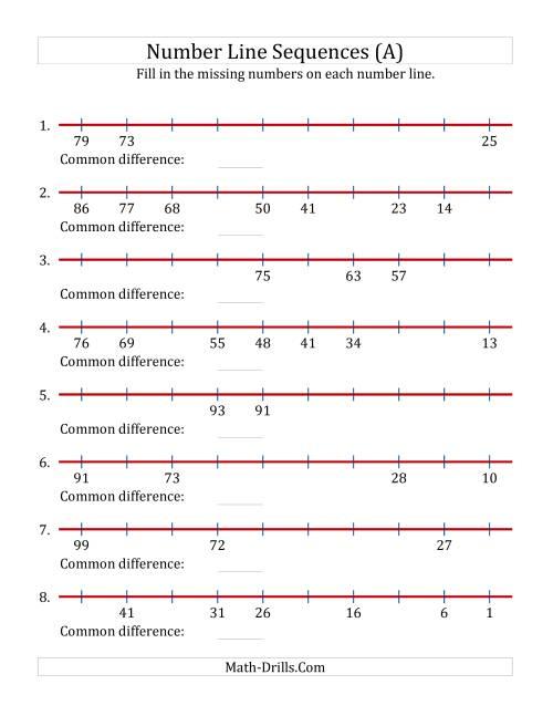 medium resolution of missing number worksheet: NEW 947 MISSING NUMBER LINE WORKSHEETS