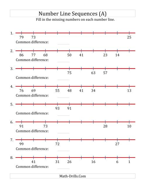 small resolution of missing number worksheet: NEW 947 MISSING NUMBER LINE WORKSHEETS