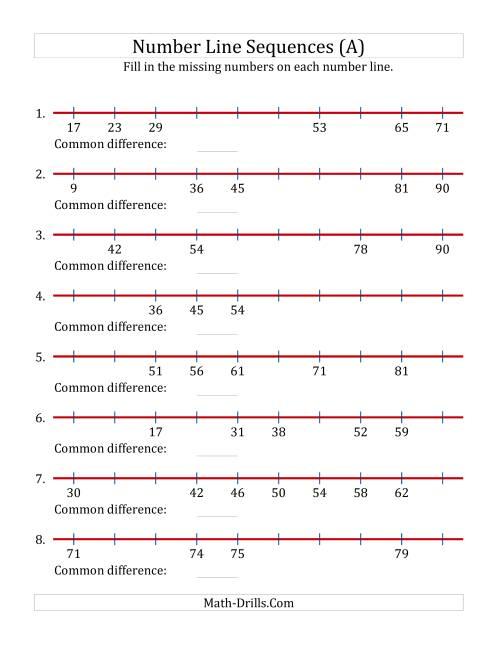 hight resolution of missing number worksheet: NEW 968 MISSING NUMBER LINES WORKSHEET