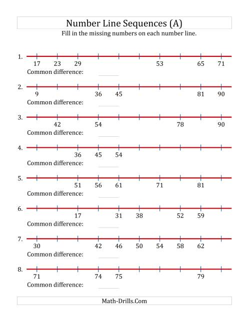 small resolution of missing number worksheet: NEW 968 MISSING NUMBER LINES WORKSHEET