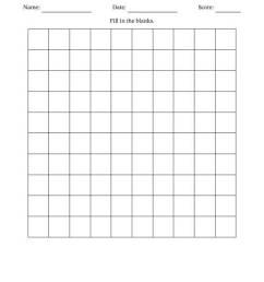 Blank Hundred Chart [ 1165 x 900 Pixel ]