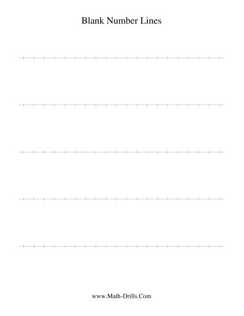 hight resolution of Blank Number Line