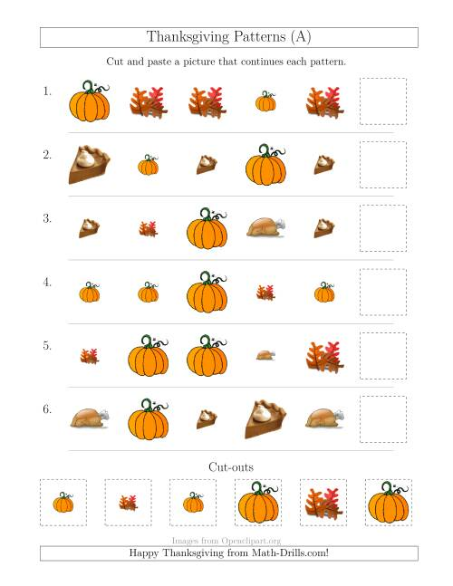 Halloween Cut And Paste Math Activities