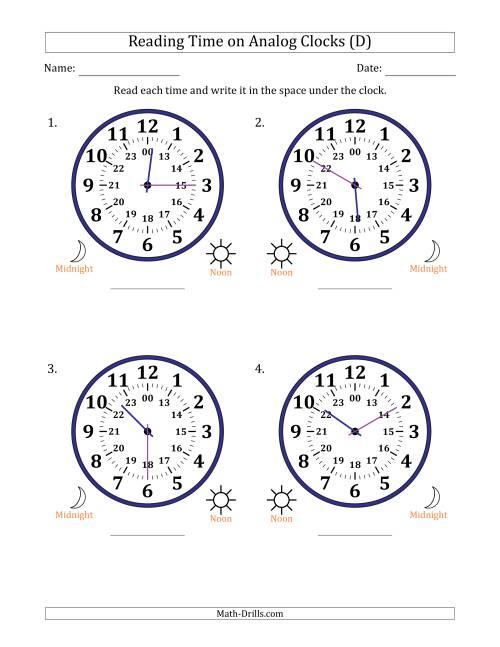 time worksheet: NEW 91 TIME WORKSHEETS 5 MINUTE INTERVALS