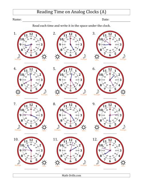 Reading Time on 24 Hour Analog Clocks in 30 Second