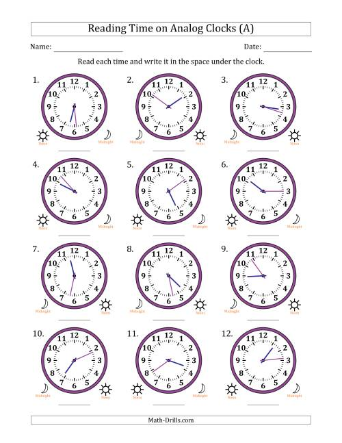 Image Result For Clock Exercises Worksheet