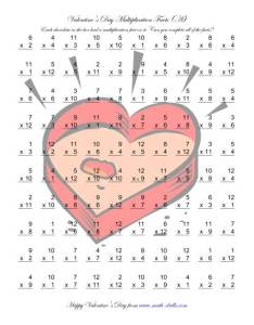 The multiplication facts to  also free valentines day printable rh viomee