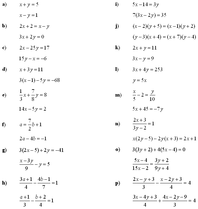 Linear System Of Equations Solving