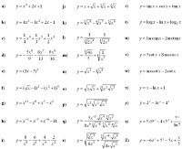 Math Exercises & Math Problems: Derivative of a Function
