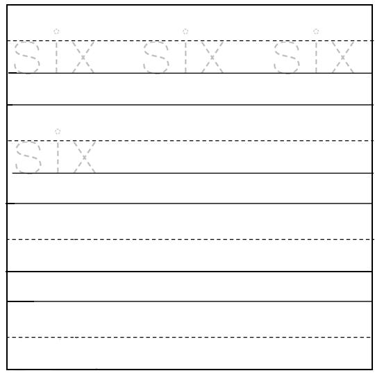 Worksheet On Number Six Free Printable Worksheet On Number Six