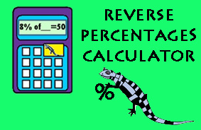 reverse percentages calculator online