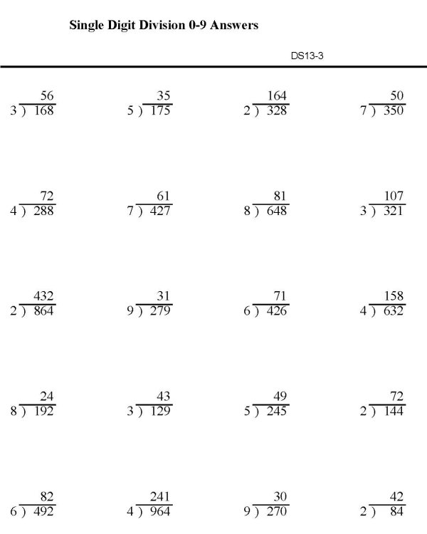 4th Grade » Partial Quotient Division Worksheets 4th Grade