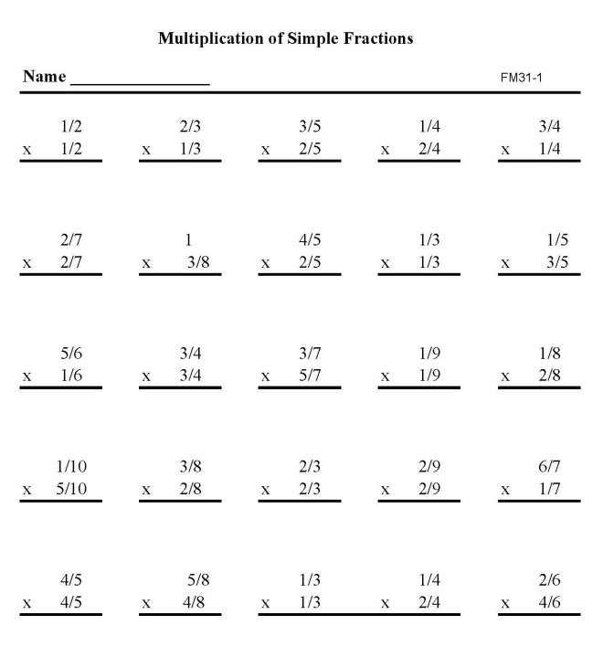 printable fraction practice sheets