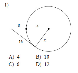 Circles Tangents Worksheets