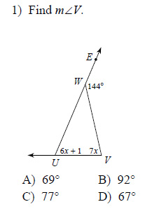 Interior angles of a triangle practice worksheet pdf