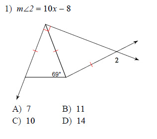 Geometry homework help isosceles and equilateral triangles