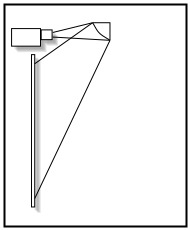 Perspective Mirror to Avoid Projector Beam Obstruction