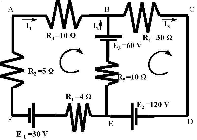2 way intermediate wiring diagram level zero data flow electrical circuits solution lets assign currents to each part of the circuit between node points we have two which will give us three different