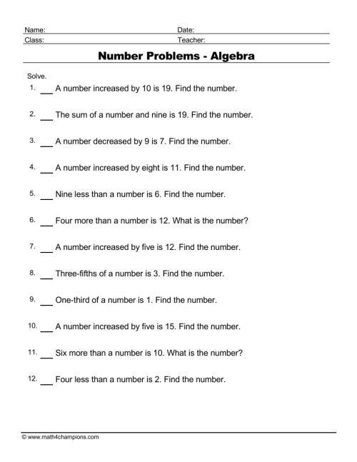 small resolution of Free Algebra Worksheets pdf downloads. Algebra order of operations   Math  Champions