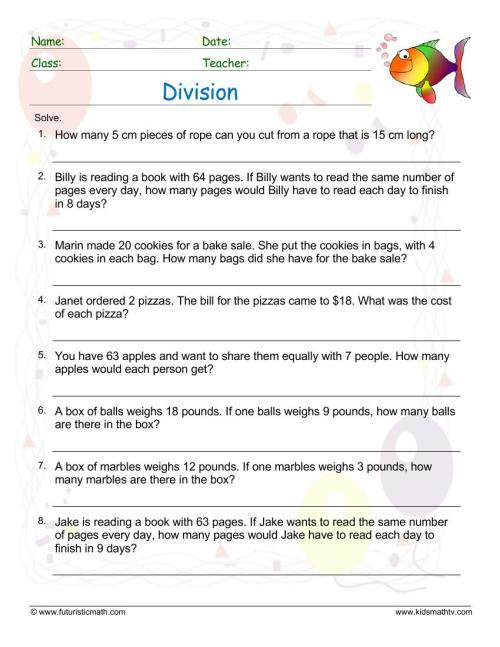 small resolution of Printable Division Worksheets for Teachers   Math Champions