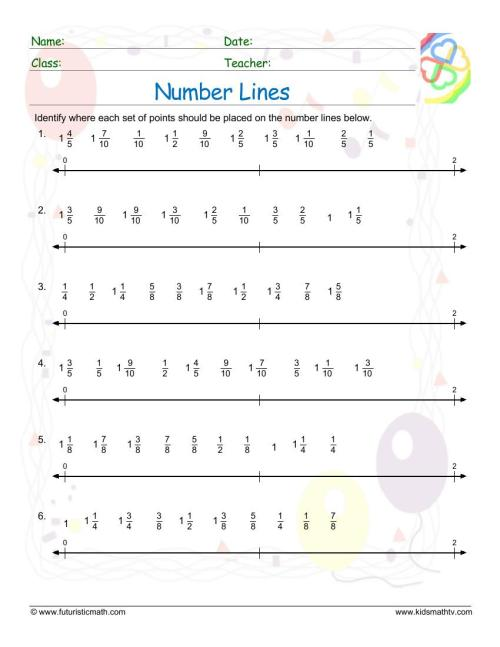 small resolution of Number Line Worksheets pdf printable   Math Champions