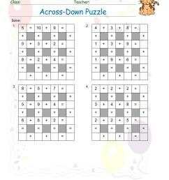 Free Math Puzzles Worksheets pdf printable   Math Champions [ 1100 x 850 Pixel ]
