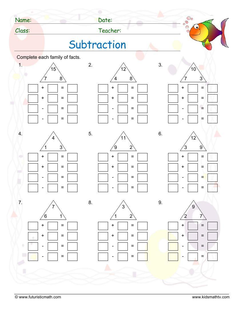 medium resolution of Subtraction Math Worksheets pdf printable   Math Champions