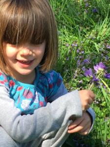 holding an iris