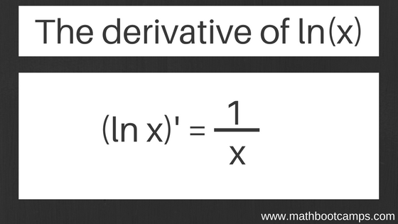 image showing the rule that  the derivative of lnx is 1/x