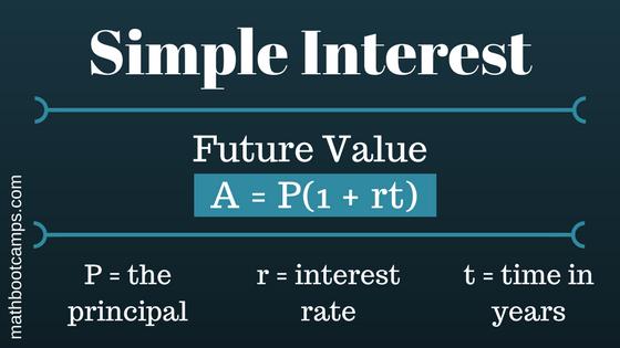 future value of simple interest formula
