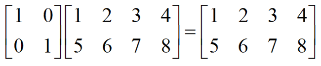 left hand multiplication by the identity