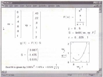 Regression functions » MathCadHelp.com » Number 1 in