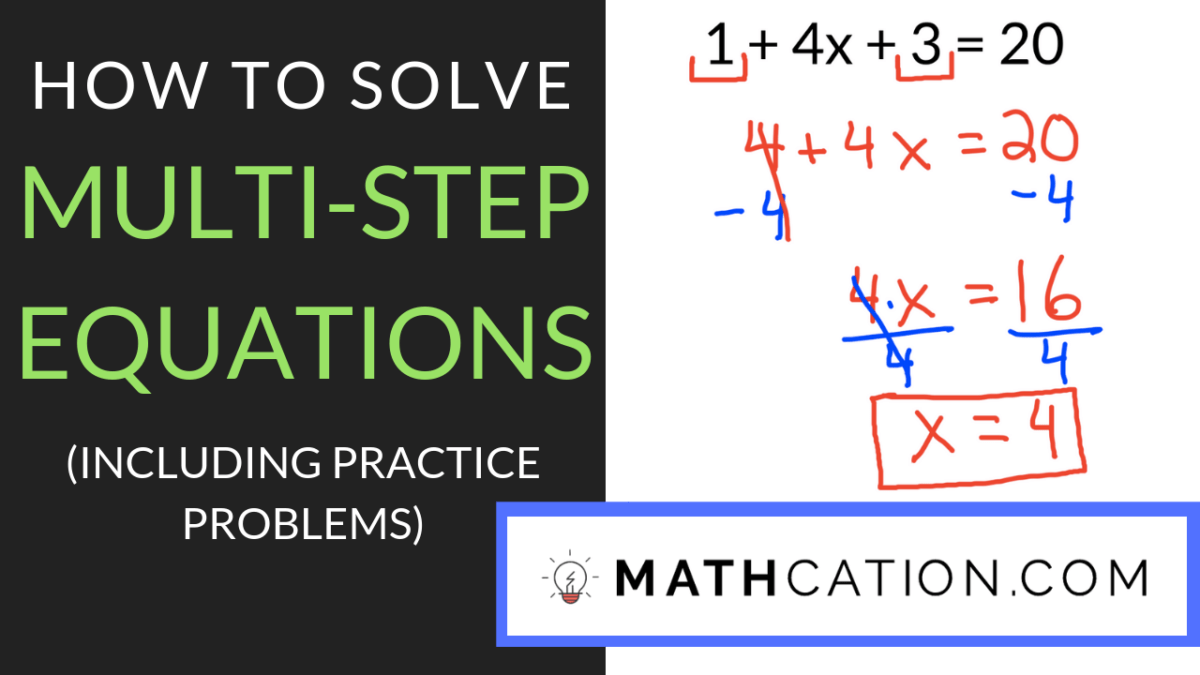 3 Quick Tips for Mastering any Multi Step Equations Worksheet   Mathcation [ 675 x 1200 Pixel ]