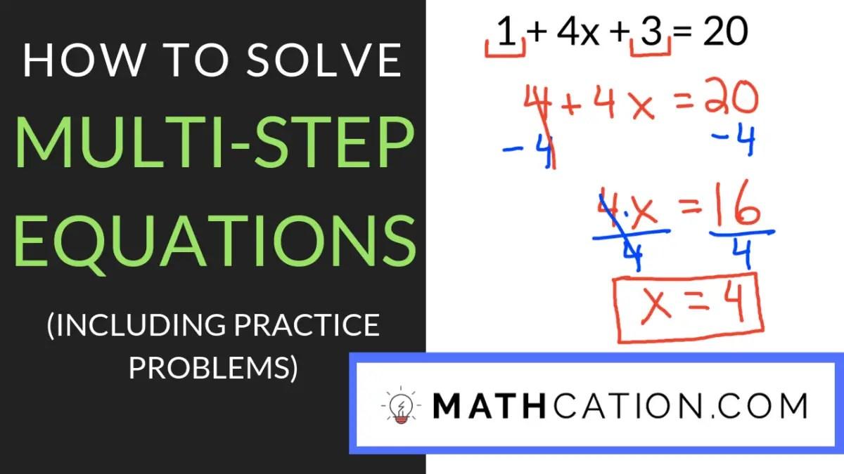 medium resolution of 3 Quick Tips for Mastering any Multi Step Equations Worksheet   Mathcation