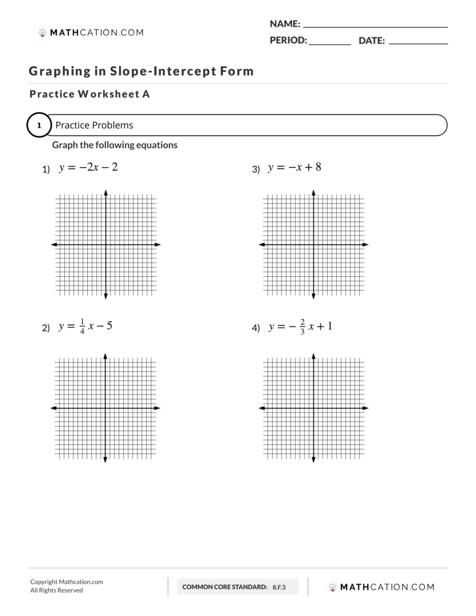 Here is the Best Method for Graphing Slope Intercept Form   Mathcation [ 1200 x 927 Pixel ]