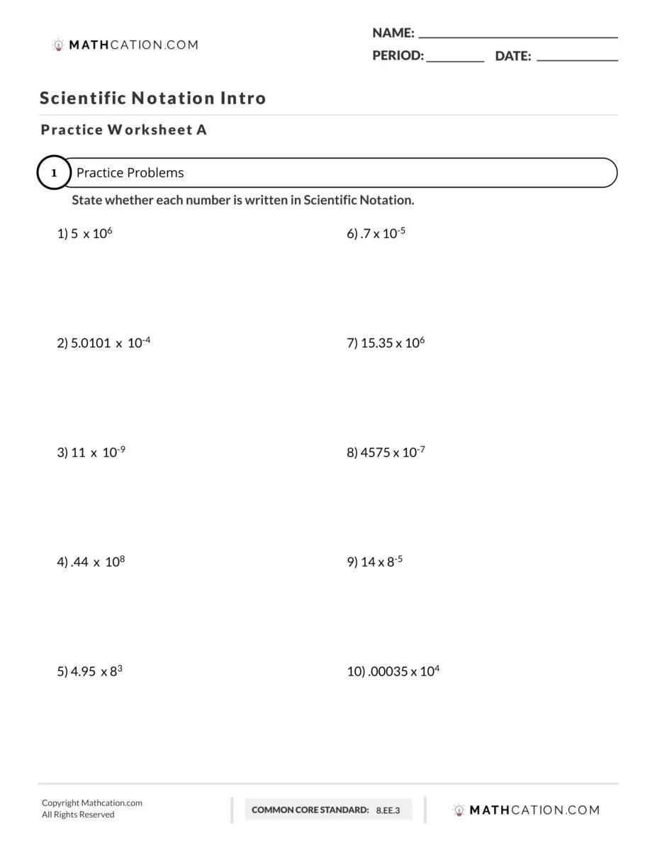 medium resolution of 3 Steps to Master any Scientific Notation Worksheet   Mathcation
