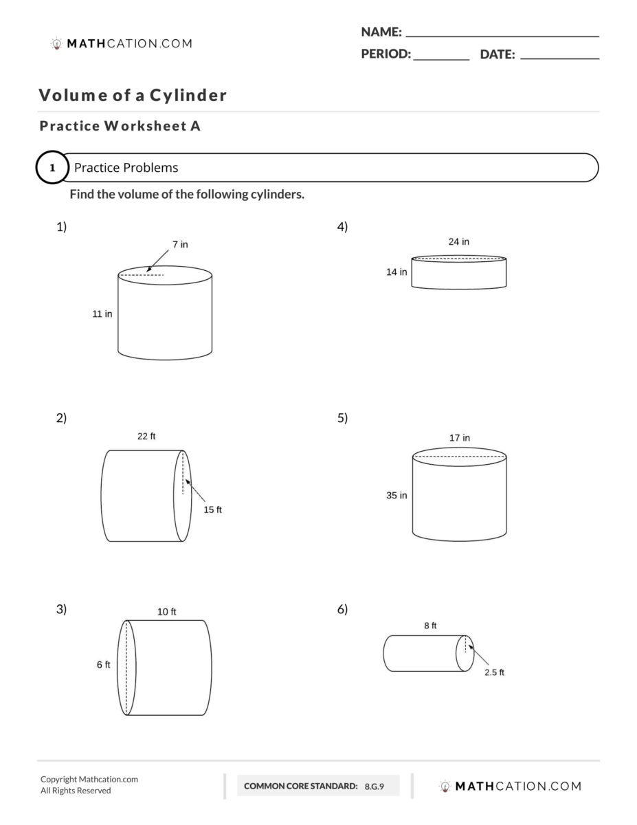 How to find the Volume of a Cylinder: A Quick Explanation   Mathcation [ 1200 x 927 Pixel ]