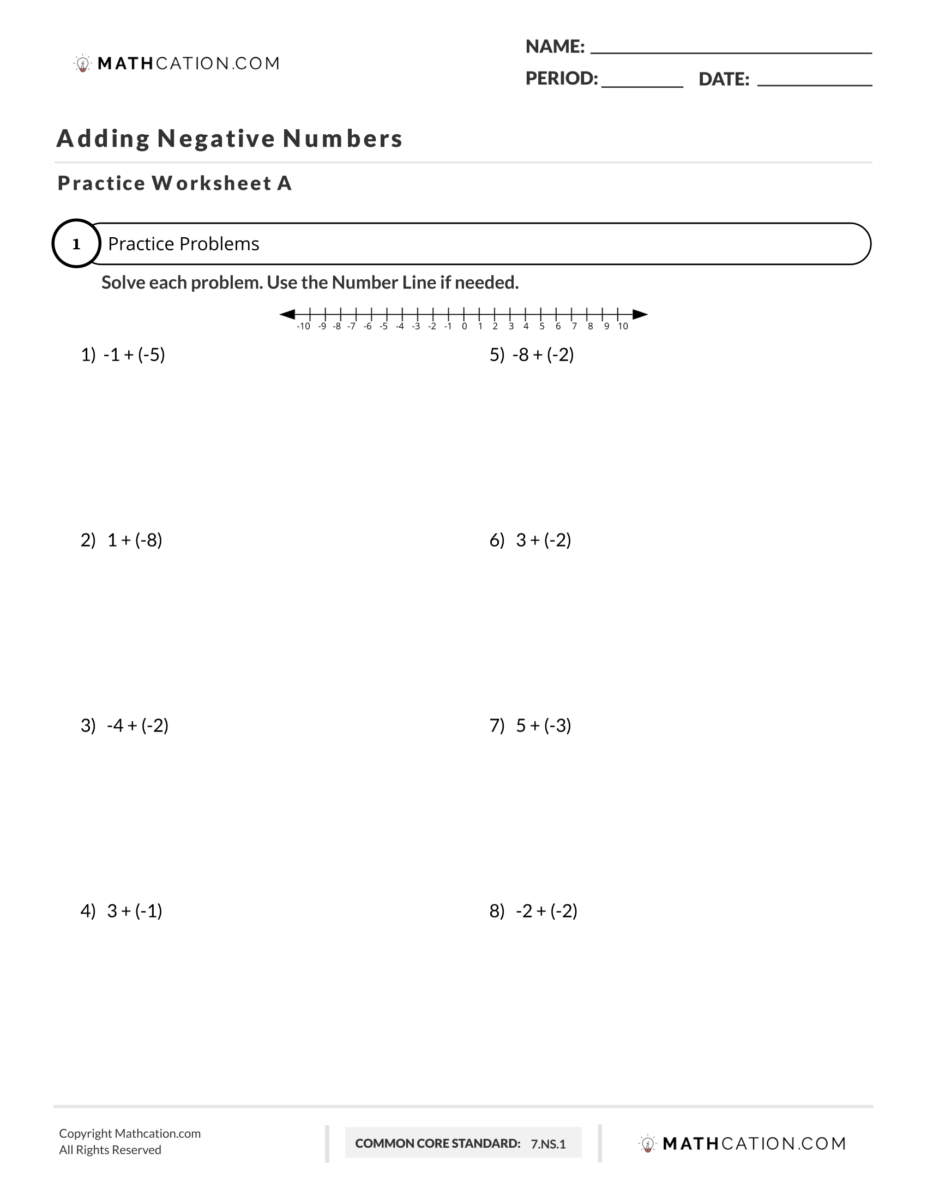 medium resolution of The 4 Step Process for Adding Negative Numbers   Mathcation