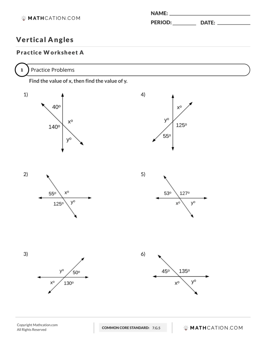 medium resolution of 3 Easy Steps for Answering What are Vertical Angles?   Mathcation