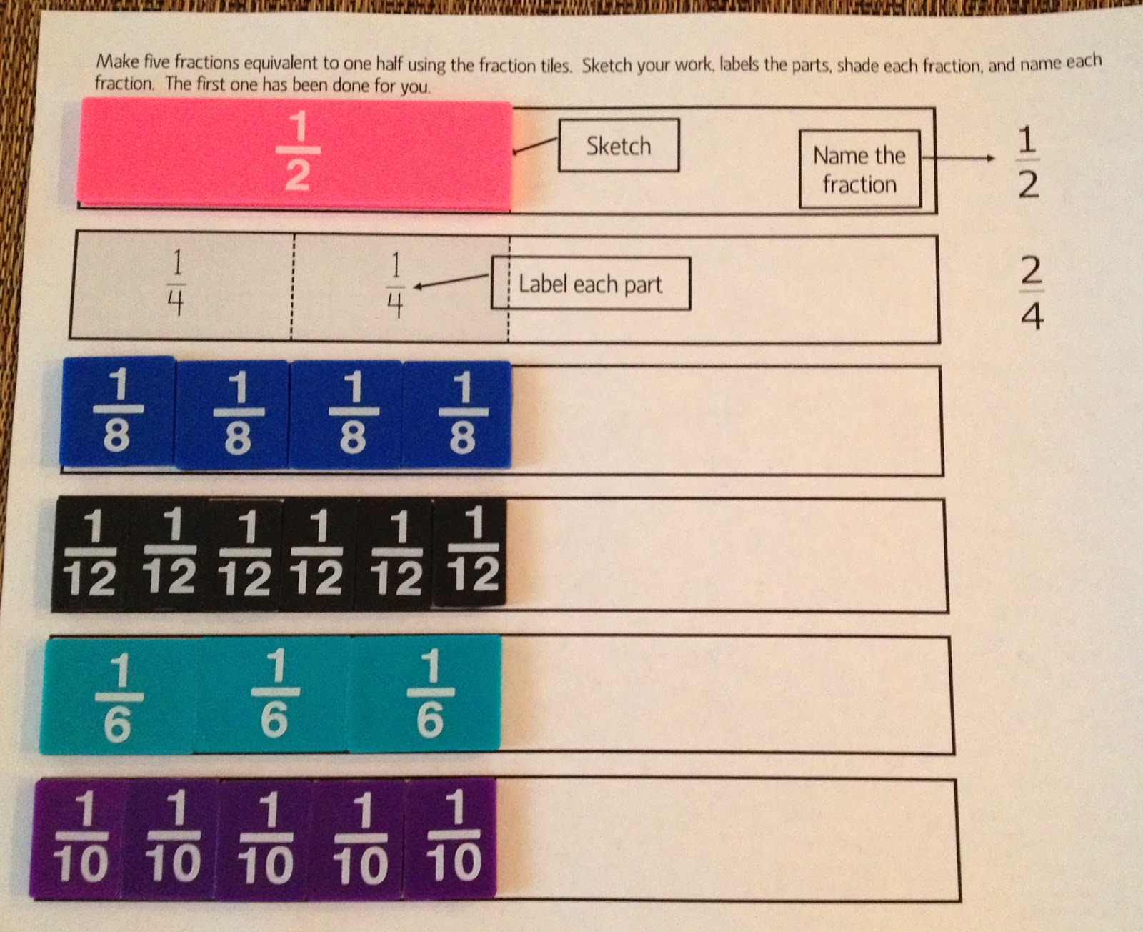 Finding Equivalent Fractions Third Grade