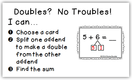 The Using Doubles Strategy For Addition Math Coach's Corner